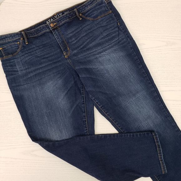 f1c72aa9bc6af5 Ava & Viv Jeans | Ava Viv Jeggings Power Stretch Dark Wash Plus 22 ...